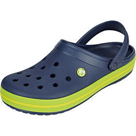 Crocs Crocband Sandaler, navy/volt green/lemon